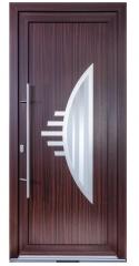 Tür in Farbe Mahagoni